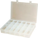 Durham Small Plastic Compartment Box SP18-CLEAR - 18 Compartments, 6-3/4x6-3/4x1-3/4 - Pkg Qty 10