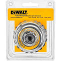 "DeWalt HP Wire Cup Brush, DW4916, 4"" x 5/8-11"", .020"" Carbon Knotted Wire, 1/PK"