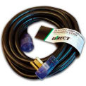 Direct Wire 8/3 Ext Cord, LIT, BLK, 25'