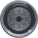 "Winco CMT-14 Round Serving Tray, 14""L, Chrome, Gadroon Edge W/ Engraving - Pkg Qty 12"