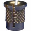 6-32 Reverse Slot Press Insert - Brass - 260-006-Rs - Pkg Qty 50