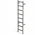 EGA Steel Vertical Wall Mount Ladder W/O Rail Extensions, 8 Step Gray - MVMS8