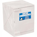 Eagle Modular Quik-Assembly Poly Acid & Corrosive Cabinet with Manual Close- 4 Gallon, White