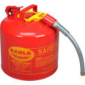 "Eagle Type II Safety Can with 7/8"" Spout - 5 Gallons - Red"