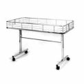 Folding Dump Table - Chrome
