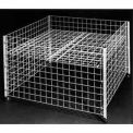 "36"" Square Grid Dump Bin - Chrome"