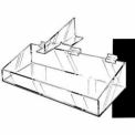 """24""""W X 8""""D X 3""""H Extra Support Tray W/ High Wall - Clear - Pkg Qty 2"""