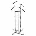 4-Way w/ Slant Arms (K15) Garment Rack - Square Tubing - Chrome