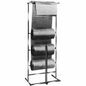3 Roll Polyethylene Horizontal Dispensing Rack - Square Tubing - Chrome
