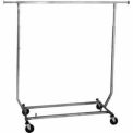 Heavy Duty Salesman's Rack, Collapsible (RCS/1-CH) - Round Tubing - Chrome