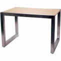 "60""L x 32""W x 30""H Large Display Table - Satin Chrome"