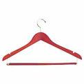 "17"" L Wishbone W/ Satin Chrome Hook And Wooden Lock Bar On Spring - Matte Teak - Pkg Qty 100"