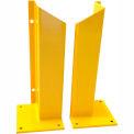 "Overhead Door Track Guard, 10"" x 10"" Base, 48""H, Yellow Powder Coat, Set of 2"