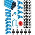 "Fastpipe Rapidair F28235, 1"" Master Kit 235 ft. 5Outlets"