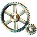 14-1/2 Pressure Angle, 3 Diametral Pitch, 42 Tooth Bushed Spur Gear
