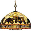 Landmark 212-TB Classic Tiffany 5/1 Light Chandelier, Tiffany Bronze