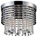 "ELK 30023/5 Rados 5 Light Flush Mount, Polished Chrome, 13""W x 10""H"