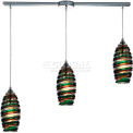 "ELK Lighting 31338/3L-licr Twister Pendant, Polished Chrome Finish, 36""W x 6""H"