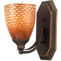 ELK 570-1B-C 1 Light Vanity, Aged Bronze And Coco Glass, 5