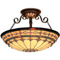 Landmark 641-BC Diamond Ring 3-Light Semi Flush, Burnished Copper