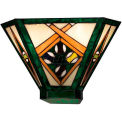 "ELK Lighting 70094-2 Gameroom Wall Sconce, Tiffany Bronze Finish, 14""W x 9""H"