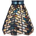 Landmark 999-20 Mix-N-Match Tiffany Glass Shade - Basket Weave Pattern