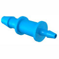 "1/8"" To 1/16"" Barbed Reduction Coupler, Antimicrobial Natural Non-Animal Derived Polypropylene"