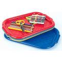 ECR4Kids® ELR-07174 Assorted Flat Non-Slip Art Trays, 15 x 10-1/2 x 1/2, Priced Ea, Sold 6/PK - Pkg Qty 6