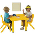 "ECR4Kids® 24"" Square Adjustable Resin Table, Sand"