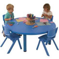"ECR4Kids® 45"" Round Adjustable Resin Table, Blue"