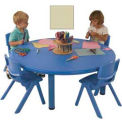 "ECR4Kids® 45"" Round Adjustable Resin Table, Sand"