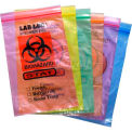 "Reclosable 3-Wall Specimen Transfer Bag (Biohazard), 6"" x 9"", Assorted, Pkg Qty 1000"