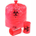 "Linear Low Density Red Infectious Waste Liner, 1.5 mil, 37"" x 50"", Pkg Qty 60"