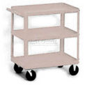 Stock Cart, 3 Shelves, 500 Lb. Cap, 30x16x33 - Textured Putty