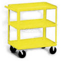Stock Cart, 3 Shelves, 500 Lb. Cap, 30x16x33 - Textured Safety Yellow
