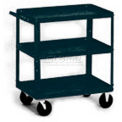 Stock Cart, 3 Shelves, 800 Lb. Cap, 30x16x33 - Textured Black