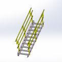 """Equipto 1736S07 OSHA Stairway 36"""" Width, 7 Stairs"""