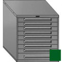 "Equipto 30""W Modular Cabinet 33-1/2""H, 9 Drawers No Divider, No Lock-Textured Evergreen"