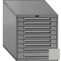 "Equipto 30""W Modular Cabinet 33-1/2""H, 9 Drawers No Divider, No Lock-Textured Dove Gray"