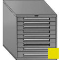 "Equipto 30""W Modular Cabinet 33-1/2""H, 9 Drawers No Divider, No Lock-Textured Safety Yellow"