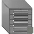 "Equipto 30""W Modular Cabinet 33-1/2""H, 9 Drawers w/Dividers, & Lock-Smooth Office Gray"