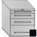 "Equipto 30""Wx33-1/2""H Modular Cabinet 4 Drawers No Divider, & Lock-Textured Black"