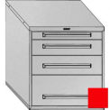 "Equipto 30""Wx33-1/2""H Modular Cabinet 4 Drawers No Divider, & Lock-Textured Cherry Red"