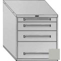 "Equipto 30""Wx33-1/2""H Modular Cabinet 4 Drawers No Divider, Keyed Alike Lock-Textured Dove Gray"