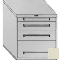 "Equipto 30""Wx33-1/2""H Modular Cabinet 4 Drawers No Divider, Keyed Alike Lock-Textured Putty"