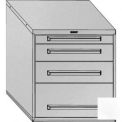 "Equipto 30""Wx33-1/2""H Modular Cabinet 4 Drawers No Divider, Keyed Alike -Smooth Reflective White"