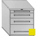 "Equipto 30""Wx33-1/2""H Modular Cabinet 4 Drawers No Divider, Keyed Alike Lock-Textured Safety Yellow"