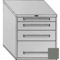 "Equipto 30""Wx33-1/2""H Modular Cabinet 4 Drawers No Divider, No Lock-Smooth Office Gray"