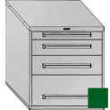 "Equipto 30""W Modular Cabinet 4 Drawers w/Dividers, 33-1/2""H, Keyed Alike Lock-Textured Evergreen"