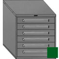 "Equipto 30""W Modular Cabinet 6 Drawers No Divider, 33-1/2""H, & Lock-Textured Evergreen"